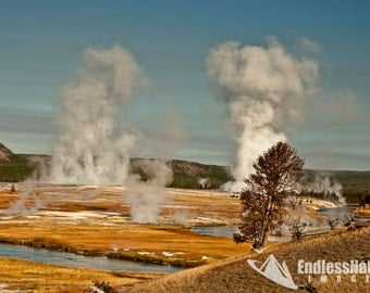 National Parks, Geysers, Geyser Images, Photographs of Yellowstone National Park, Fine Art Landscape Images, Geyser Photography.