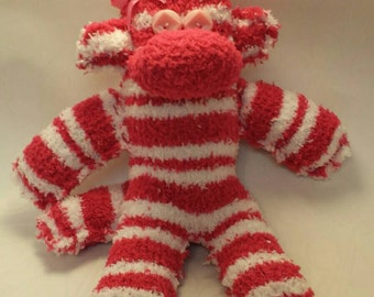 Chenille 10-inch sock monkey