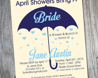 Bridal Shower Invitation { April Showers }