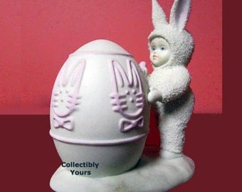 Dept 56 Snowbunnies I'LL COLOR The Easter EGG  26212,  Limited Edition,  New, Never Displayed