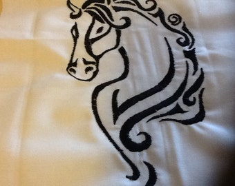 4 pack of Machine Embroidery Horse Designs for 5x7 hoop