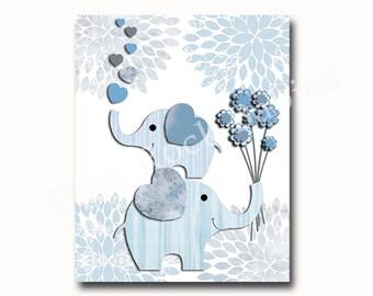 Baby boy wall art, Kids room decor, baby boy nursery art, wall art for kids, nursery wall decor, elephant nursery art, children wall art