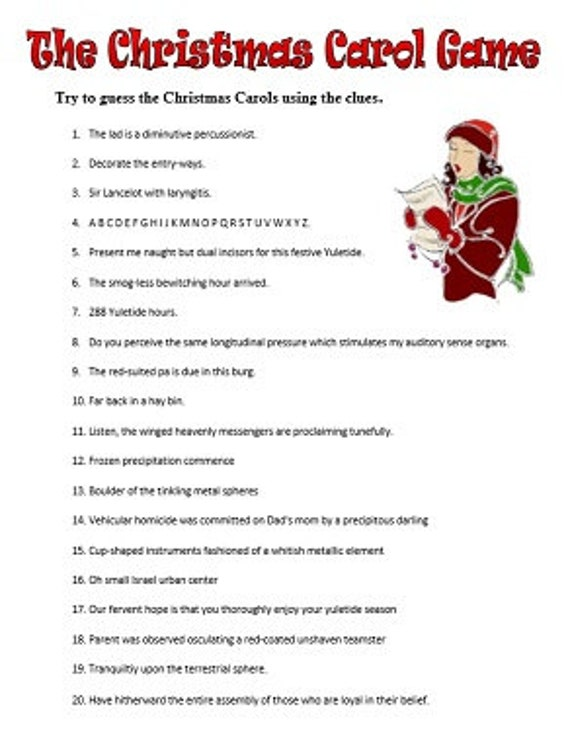 It's just a graphic of Tactueux Christmas Carol Game Printable