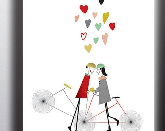 Bike Love Giclee Print