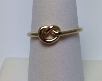Gold vermeil love knot ring