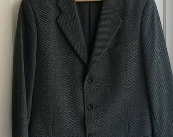 Vintage Armani Collezioni charcoal grey wool jacket