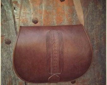 Indian gypsy leather bag