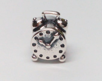 New Authentic Pandora Sterling Silver Clock Charm 790449