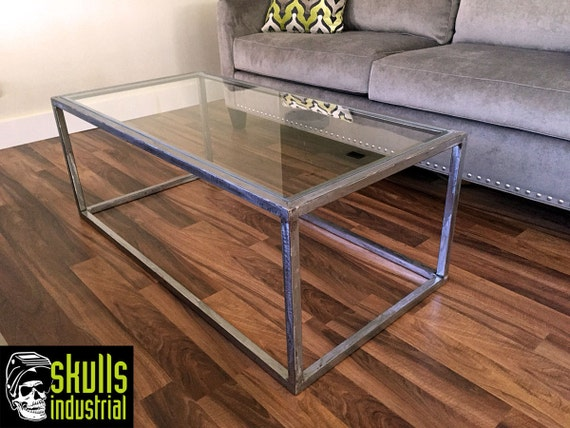 Coffee table welded steel with glass top what 39 s your - Table design belgique ...