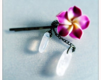 Hairpin Aloha Spirit (with natural rose quartz)