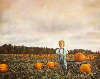 Greeting Card, Blank Cards, Child's Birthday Card, Pumpkin, Halloween, Blank Card, Fall Color. Autumn, Pumpkin Patch, Harvest, October