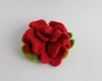 Felt rose, felt flower, felt brooch