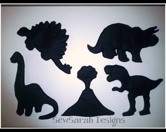 ITH Dinosaur Shadow Puppets - Set of five (5x7)
