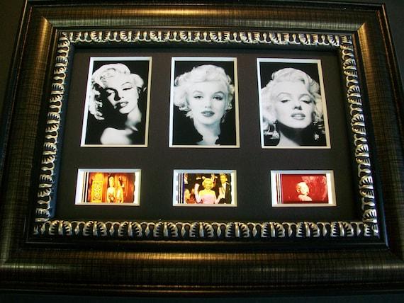 MARILYN MONROE Framed Movie Film Cells x3 Trio mini posters ...