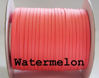 10 Yds - 1/8'' Grosgrain Ribbon, 3mm Solid Ribbon Watermelon Color