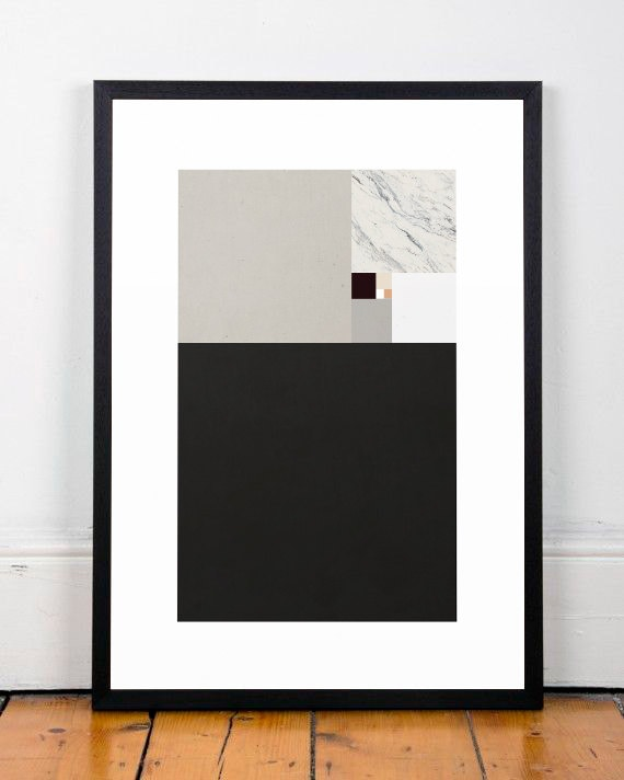 Modern art print abstract wall art minimalist by for Minimalist wall decor
