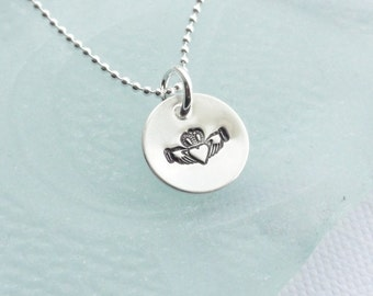 Sterling Silver Claddagh Necklace - Other Designs Available