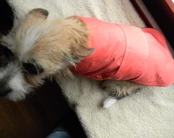Small Peach Dog Jacket