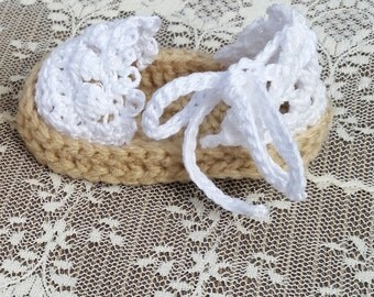 Baby girl crochet espadrilles shoes baby girl sandals handmade baby shoes baby summer shoes baby shower gift photo prop