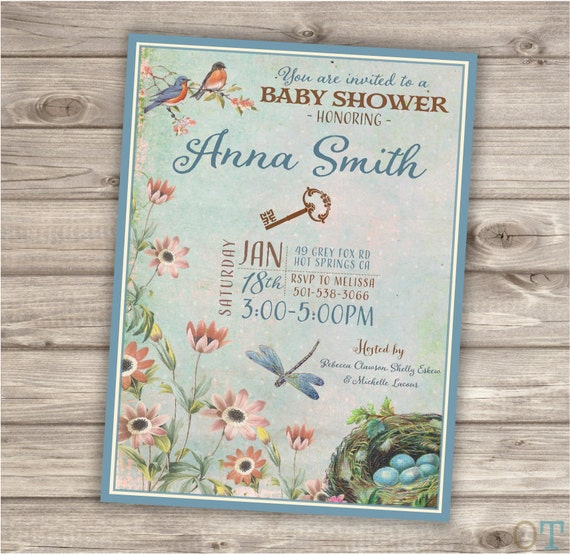 Secret Garden Baby Shower Theme Party Rustic Modern Download