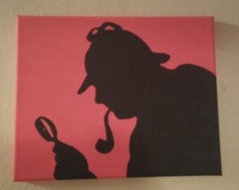 Sherlock Holmes 8x10 Painting