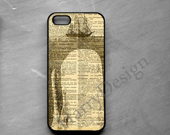 Whale in Sea Plastic phone case, iPhone 4 / 4s / 5 / 5s /5c / 6 case, Samsung Galaxy S3 / S4 / S5 case, Note 2 Note 3 Note 4 case