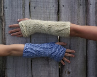 Chunky arm warmers made to order