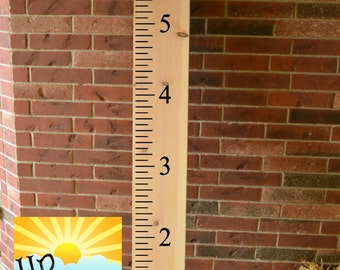 6ft Ruler Growth Chart Vinyl Wall Decal