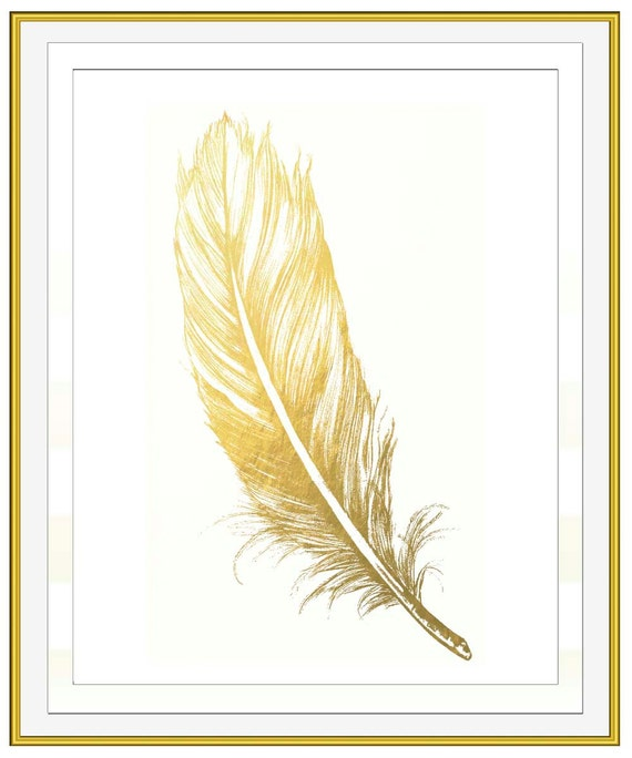 Gold Feather Wall Decals Target Color The Walls Of Your