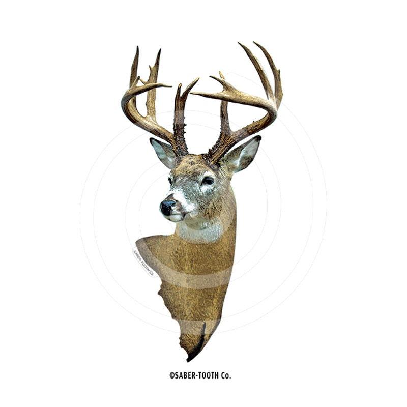 Buck Deer Head Decal Sticker