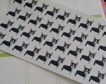 Boston Terrier Stickers! Dog Stickers! Perfect for your Erin Condren Life Planner, calendar, Paper Plum, Filofax!