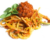 RECIPE: Zucchini Spaghetti with Walnut 'Meatballs' recipe, vegan, vegetarian, gluten free, wholefood, instant download