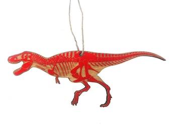 T-rex Skeleton Christmas Ornament