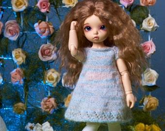 "BJD 1/6 YoSD LittleFee Teenie hand knitting dress ""Zephyr"""