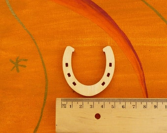 5 good luck Horseshoe 50 mm as table decorations, card making stray parts round birthdays