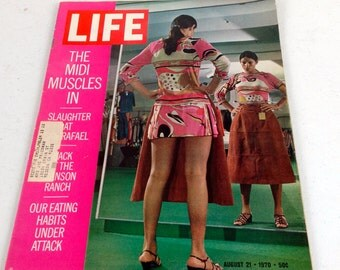 Vintage Life Magazine With Lots Of Old Advertising -  From August 21, 1970