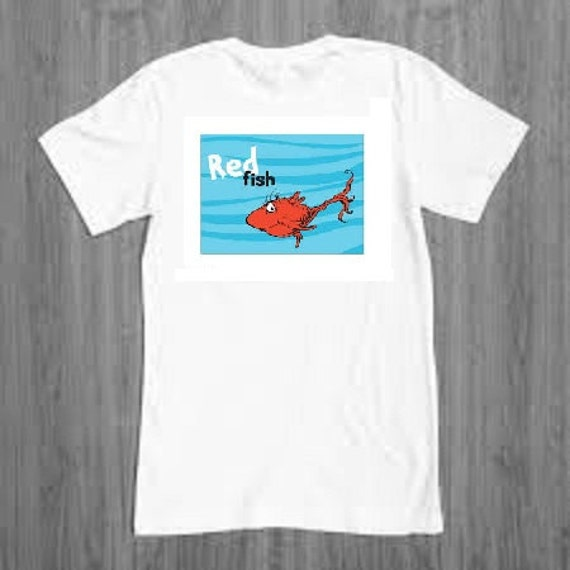 Items Similar To Dr Seuss Red Fish Blue Fish T Shirts
