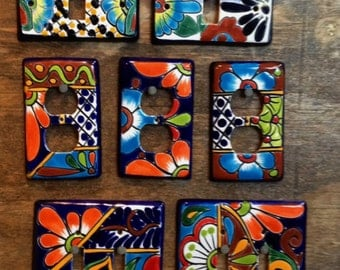 Talavera Light Switch Covers