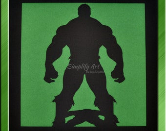 Hulk Silhouette Wall Art