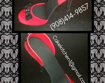 Fondant high heel shoe