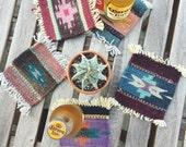 southwestern kilim coasters / mini rugs