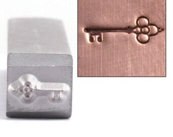 Metal Stamp Ornate Key (DS202)