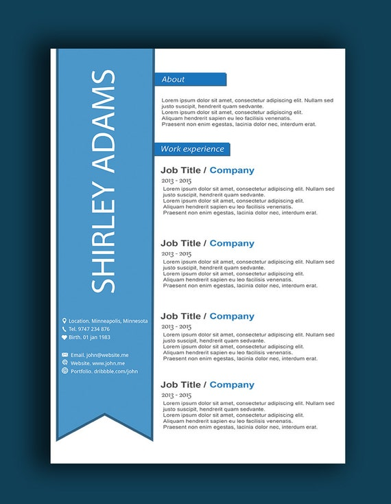 custom resume template resume page word resume