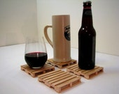 Pallet Coasters - Maple Wood
