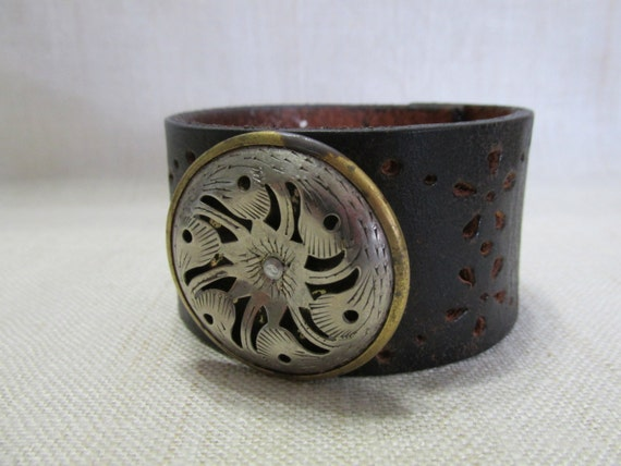 Leather cuff women 39 s bracelet repurposed by whitetailleather Repurposed leather belts