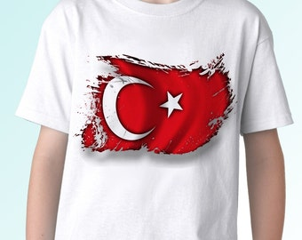 Turkey Flag shirt - new white holiday t shirt country football print design 100% cotton - Mens, womens, kids & baby clothing - all sizes!