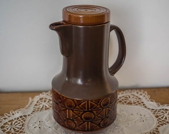 Retro Beswick England Zorba Mission Brown Coffee Pot - 1960s