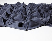 Wool Cashmere Origami Blanket in Charcoal