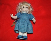 PRECIOUS MOMENTS Doll--Rose/June With Original stand 13""