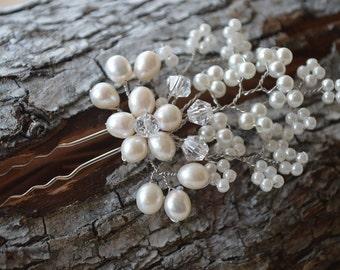 Simple and elegant bridal hair pin